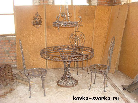 foto-kovka-stol-stul'ya-lyustra