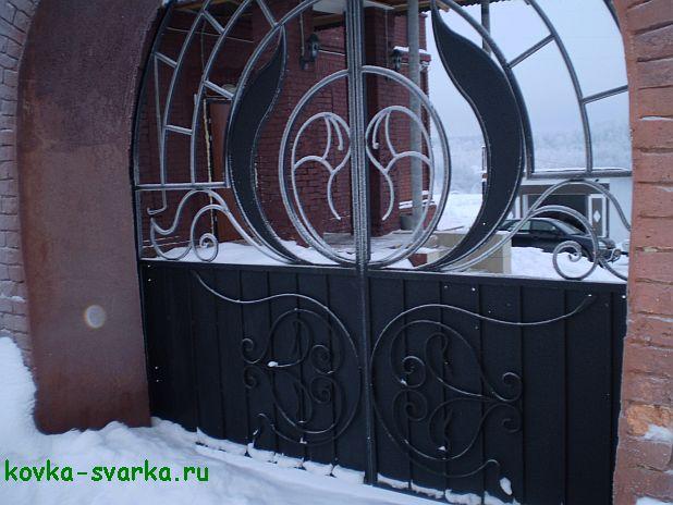ворота фото (ковка)