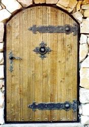 двери с коваными жиковинами