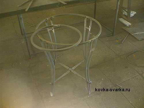 сборка кованого стола