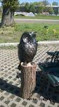 Фото кованой скульптуры совы