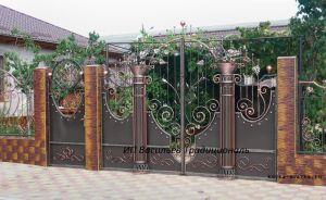 Забор и ворота, ковка, кузнецы Васильевы