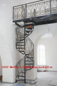 лестница из металла, кованые перила