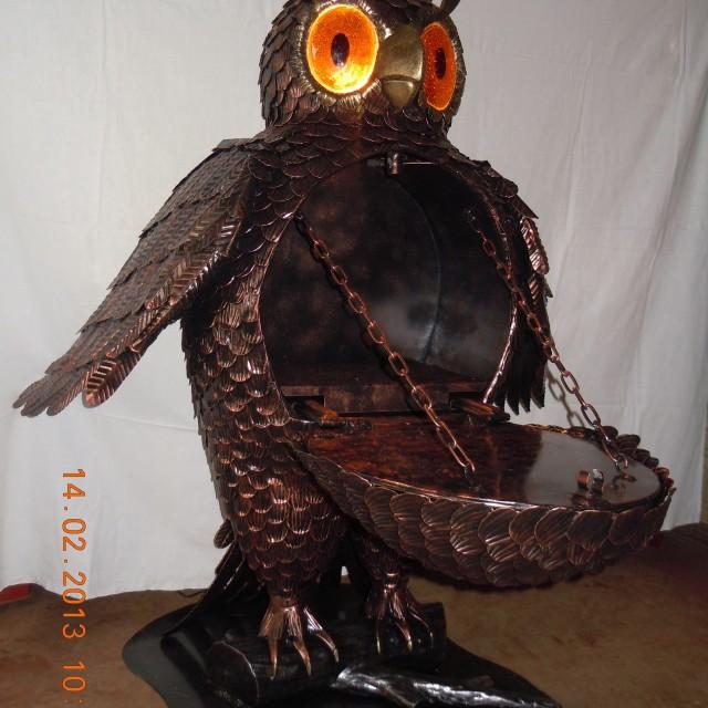 Фото кованой совы