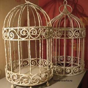 Кованые клетки для птиц