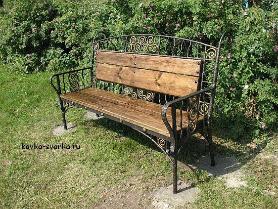 скамейка для сада кованая
