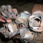 сварная роза из стали