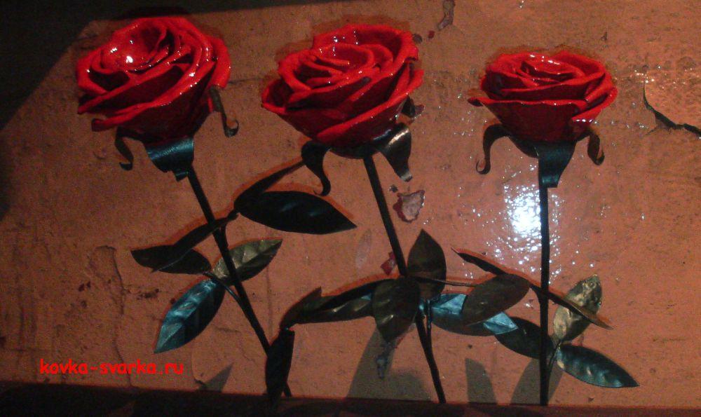 Розы из металла сделаны своими руками