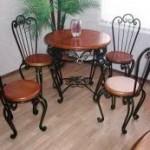 Стол со стульями кованые