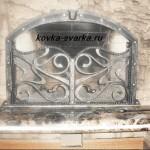 Фото кованой каминной решетки