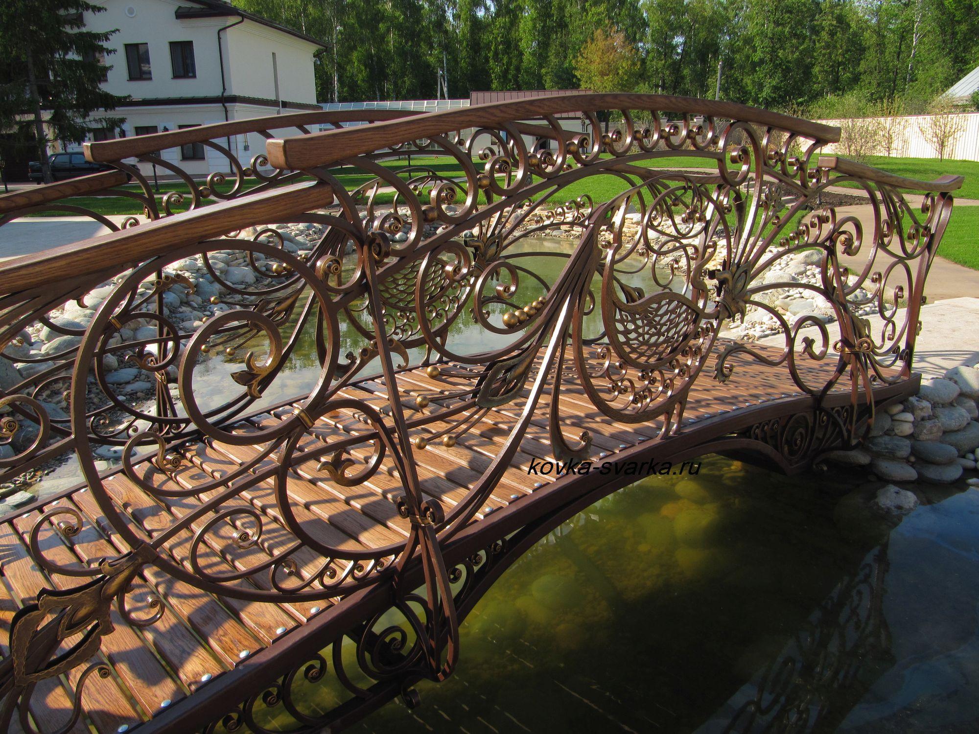 мост кованый фото