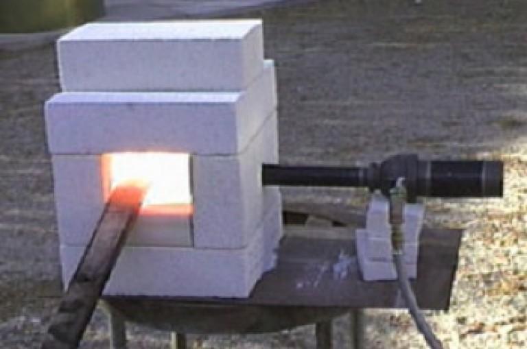 Газовый горн своими руками из кирпича 78