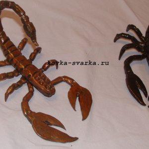 Фото кованых скорпионов