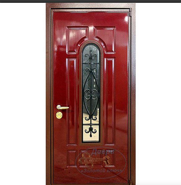 Дверь со стеклопакетом металлическая от фирмы GoldenKey, источник фото http://izgotovlenie-dverei.ru