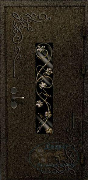 Дверь со стеклопакетом металлическая
