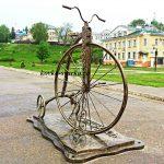 Фото кованого велосипеда