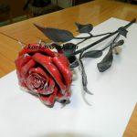 Фото кованой розы от компании Феникс