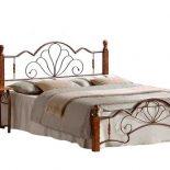 Изысканная двуспальная кровать с металлическим ажуром