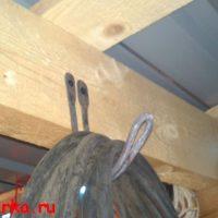 Ковка крючка из кругляка для кабеля или шланга