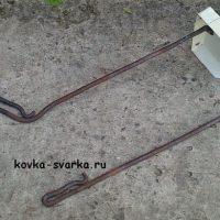 Ковка кочерги и совка из круглого прутка 10 мм и листового металла 1мм