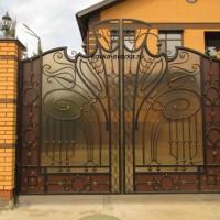 Кованые ворота – сочетание стиля и красоты, виды кованых ворот. Как выбрать ворота из ковки.