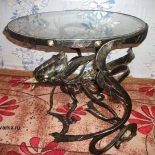 Кованые стол, ящерица, дикая природа, подсвечник- работы кузнеца Юрия